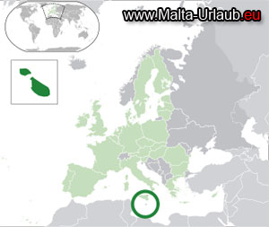 Malta Karte Wo liegt Malta