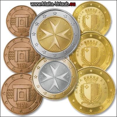 Währung Malta Euro Münzen Geld Kreditkarten Kursmünzensatz
